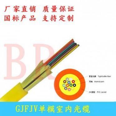 室内单模光缆室内4芯8芯12芯24芯48芯束状型软光缆光纤GJFJV-8B1