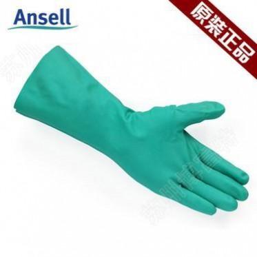 ANSELL/安思尔 37-145 抗溶剂腈胶无衬垫手套 0.28mm厚 33cm长