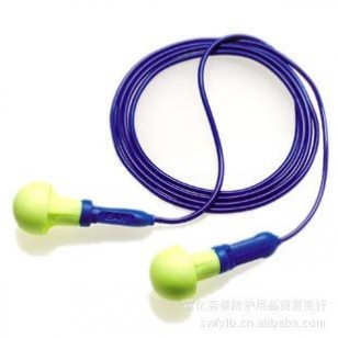 3M EVR 318-1005 PUSH INS 免搓泡沫带线耳塞 防噪音耳塞